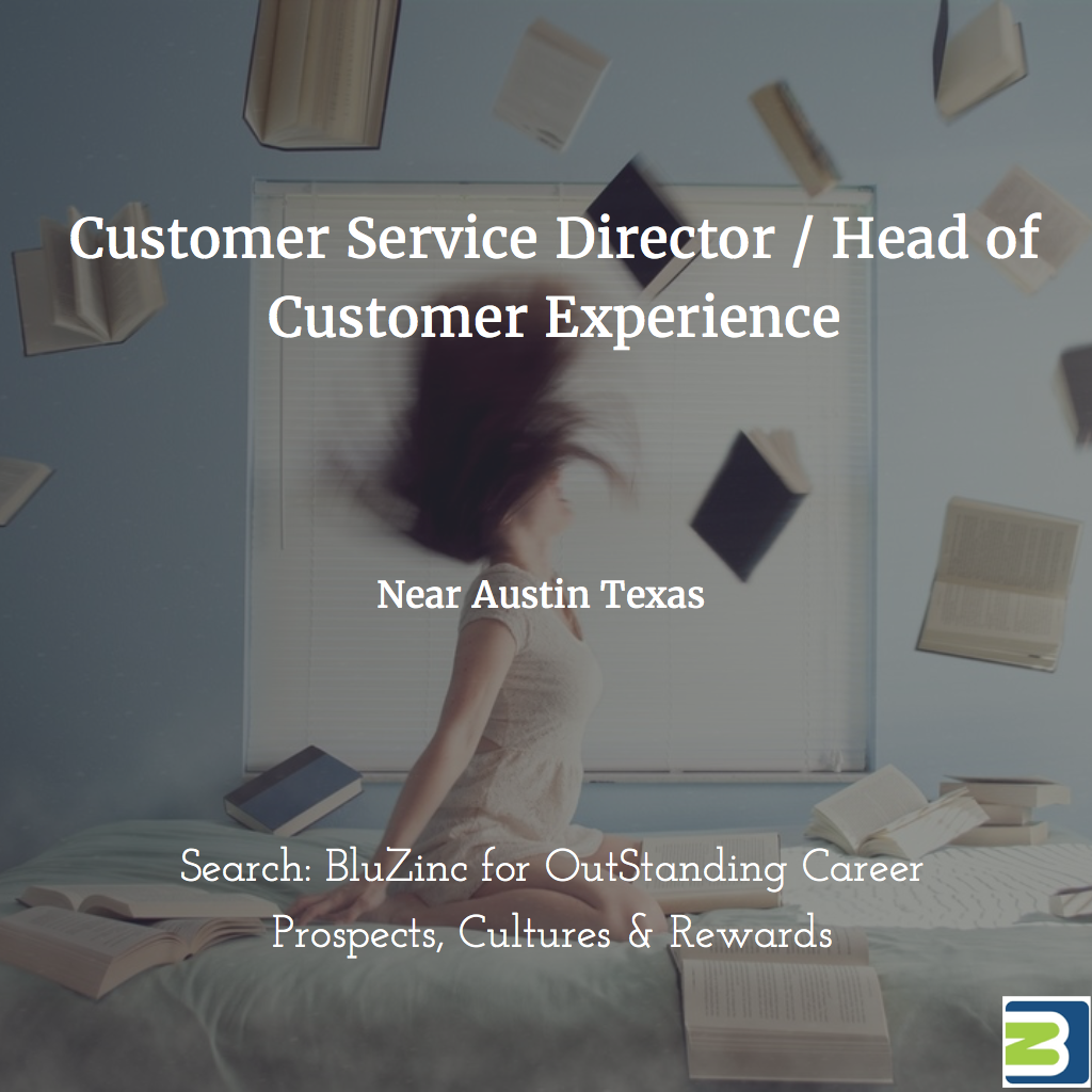 Customer Service/Experience Director Career for Expanding, Established Digital Marketing Technology Start-Up, Georgetown nr Austin, Texas