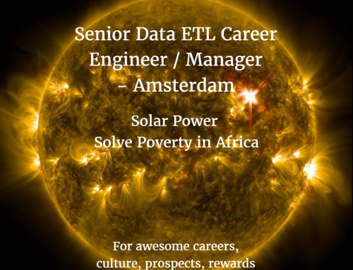Senior ETL Data Engineer / Manager Career in Amsterdam to Solve Poverty in Africa
