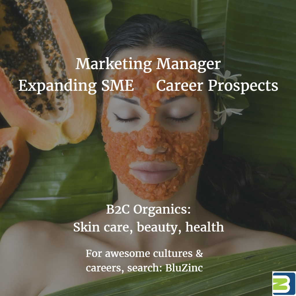 Marketing Manager – Growing Organics Skin Care SME, Berkeley, San Francisco Bay Area