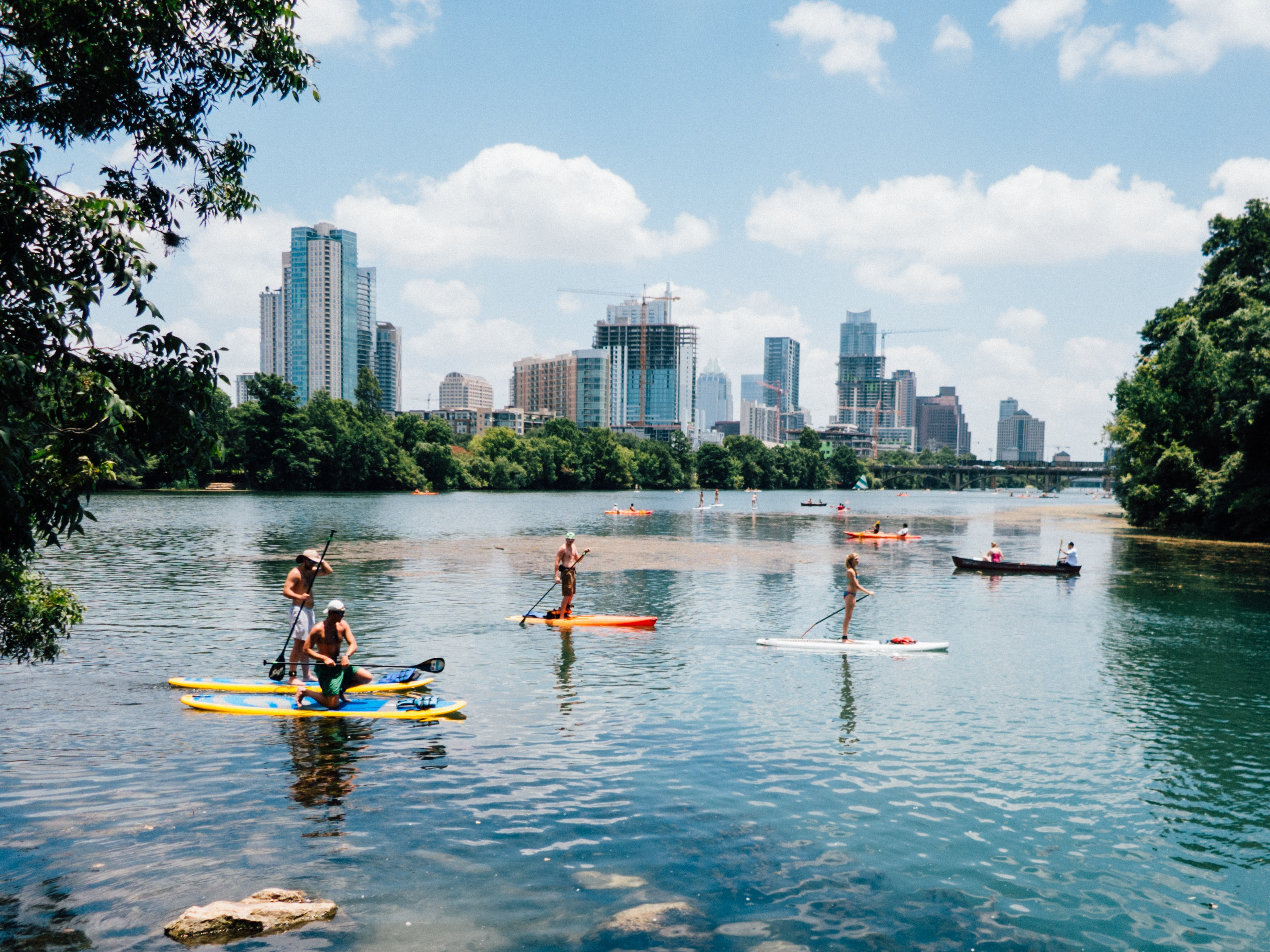 Lake in Austin, Texas,